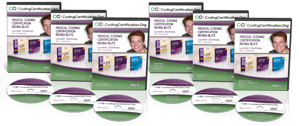 The Full DVD Set Of The Medical Coding Certification Review Blitz Videos